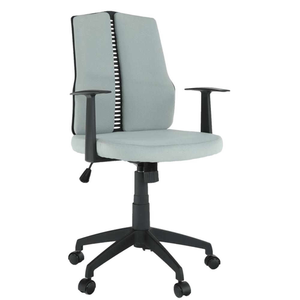 Kancelárske kreslo, svetlosivá/čierna, DELANO