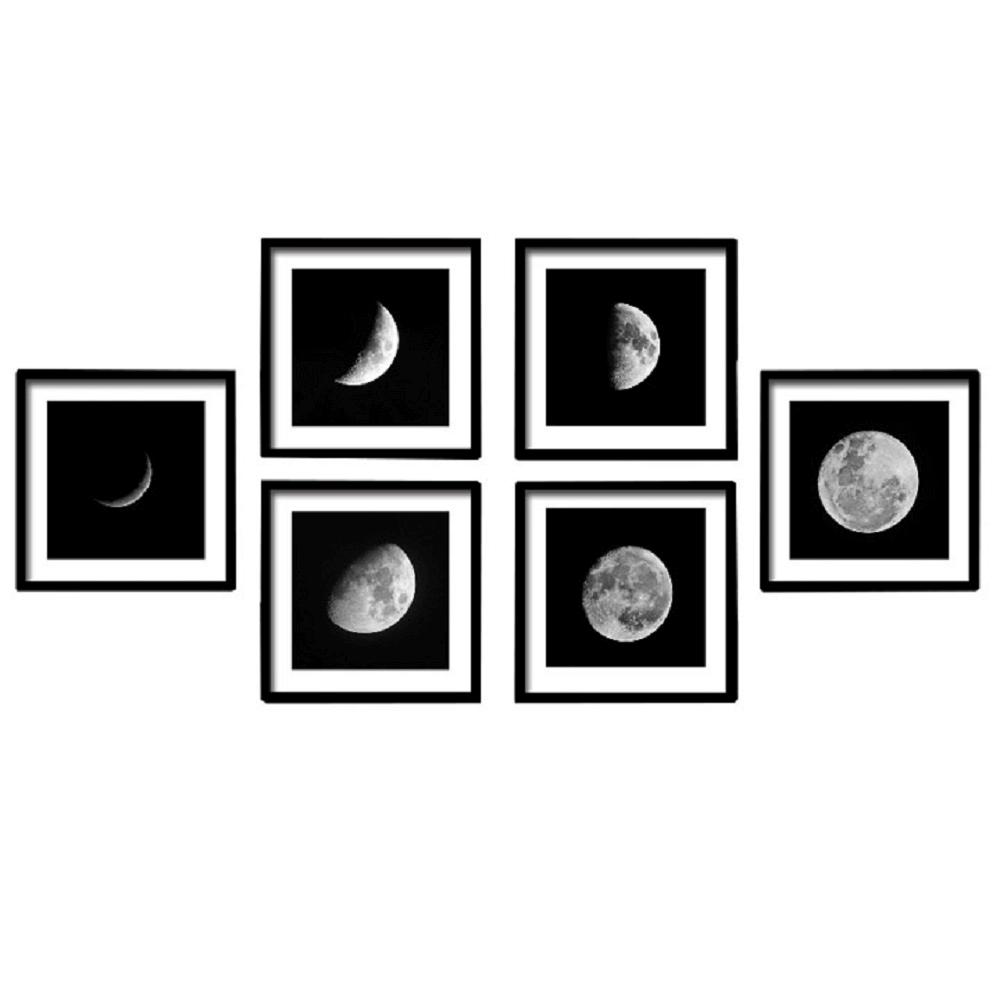 Üveges nyomtatott festmény, fehér/fekete, DX TYP 10 MESIAC