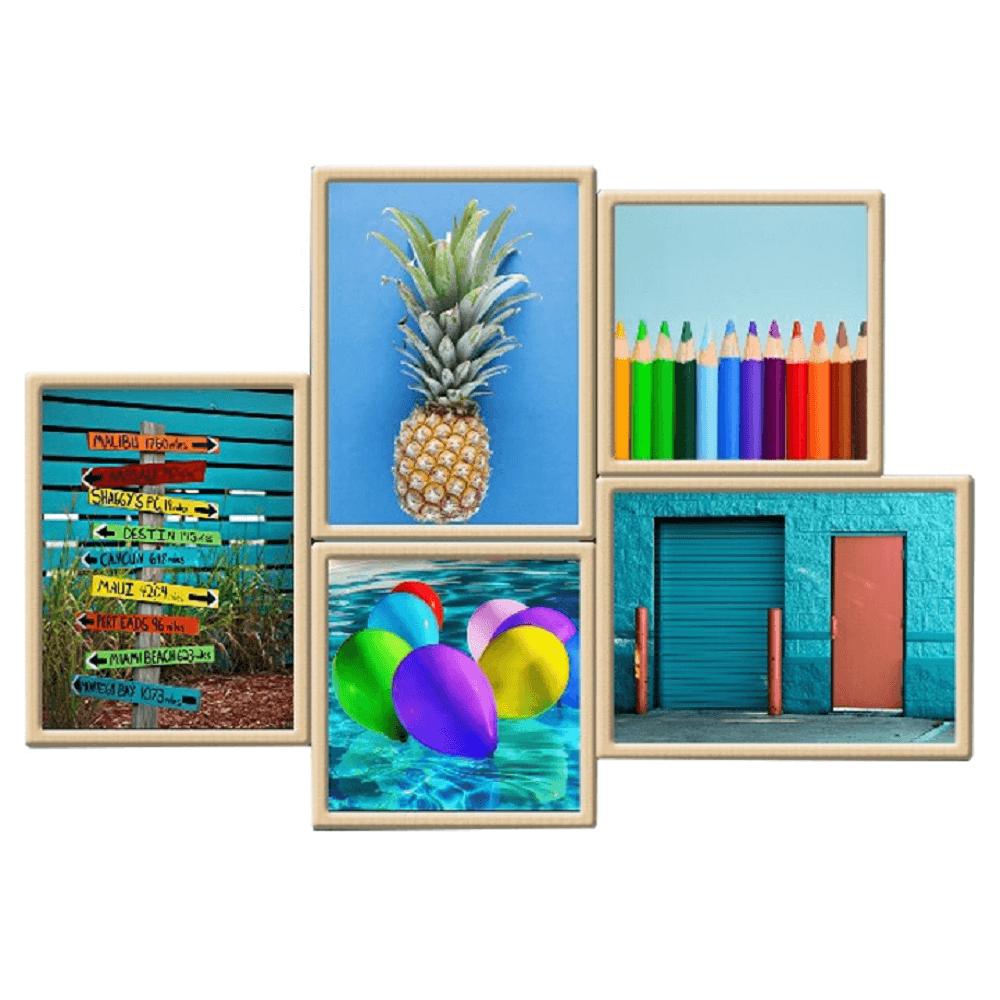 Üveges nyomtatott festmény, színes, DX TYP 16 BLUES