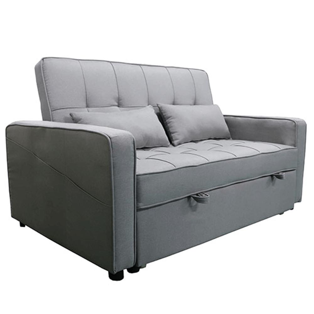 Rozkládací pohovka, šedá, FRENKA BIG BED