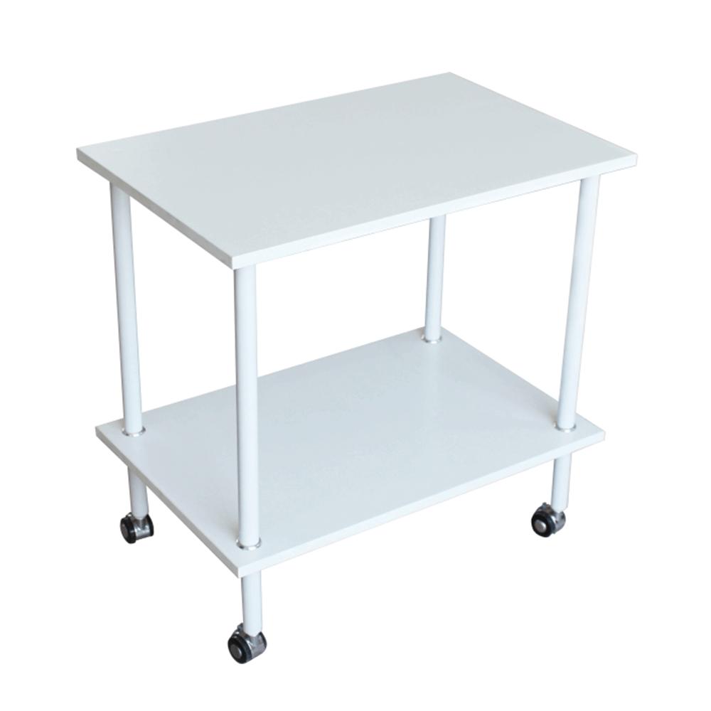 Príručný stolík, matná biela, LABON - NA SKLADE!
