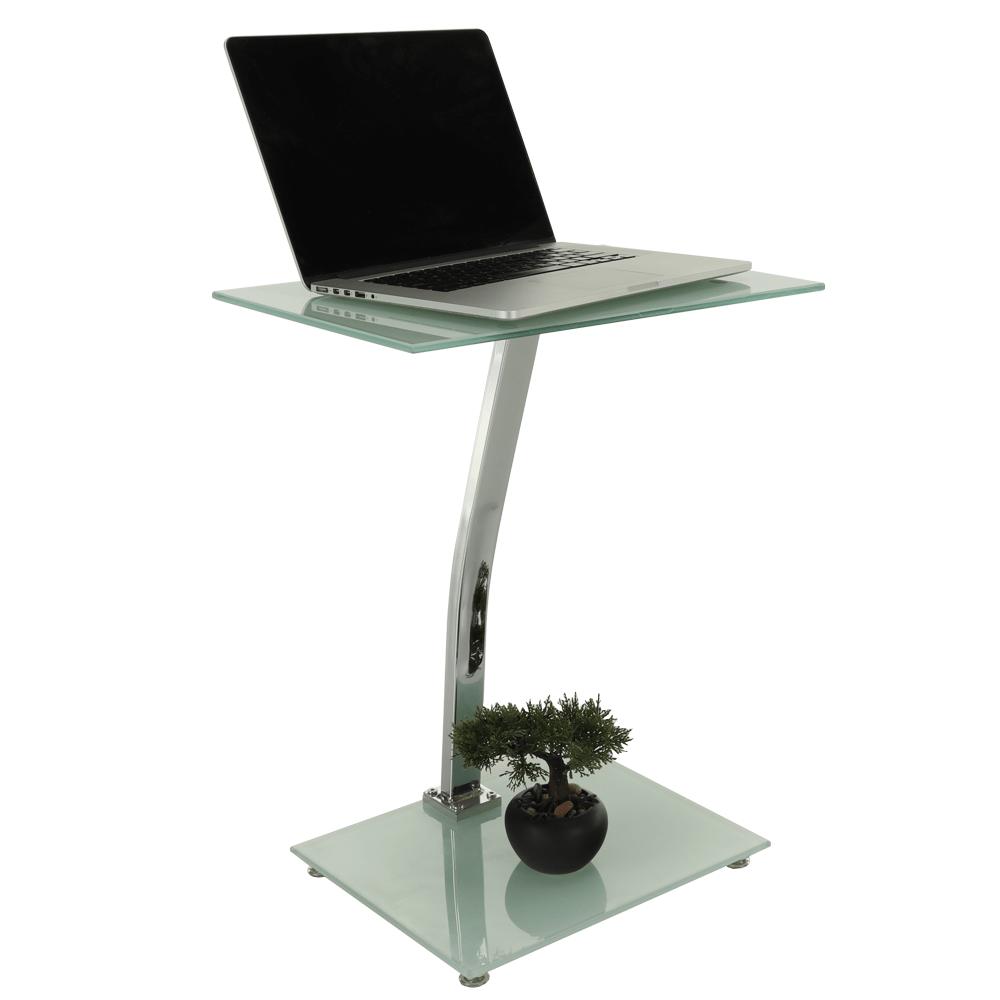 Príručný stolík, biela, PELOK