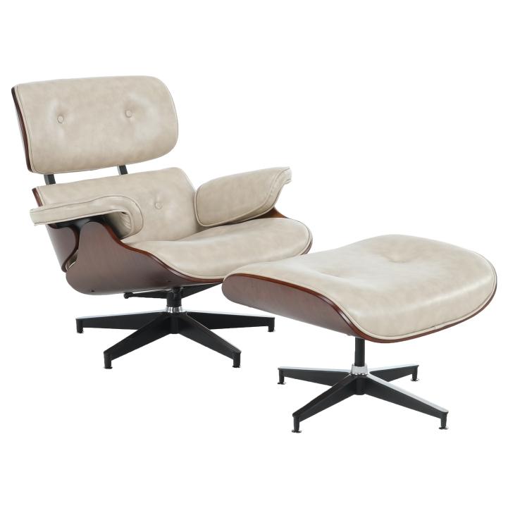 Relaxačné kreslo s podnožou, béžová, KAITIR,poškodený tovar