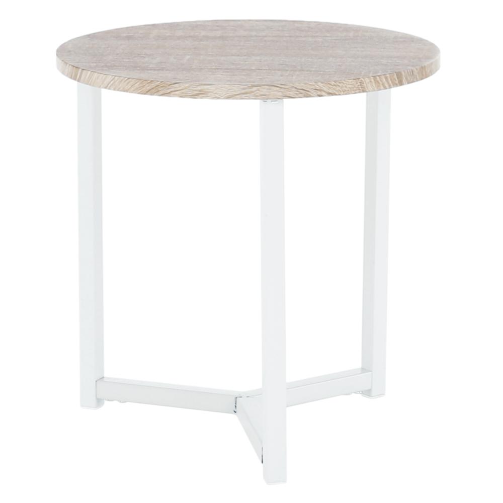 Príručný stolík, prírodná/biela, CELINI