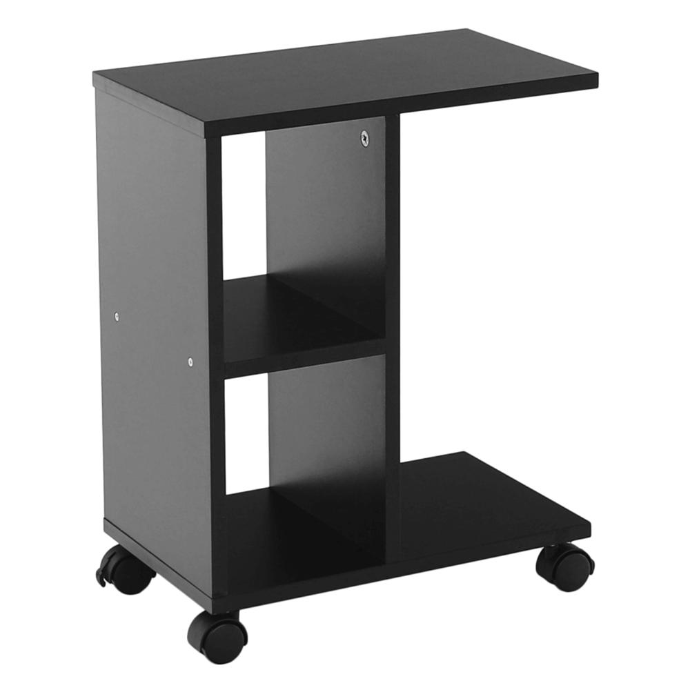 Príručný stolík, čierna, ABBAS NEW