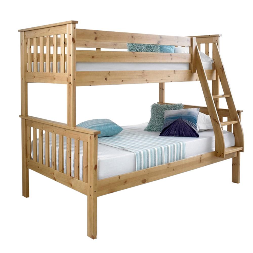 Poschodová rozložiteľná posteľ, prírodná borovica, LUINI