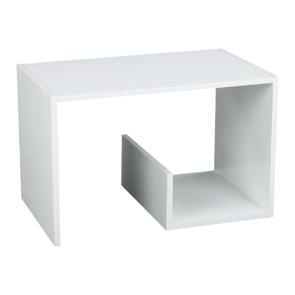Príručný stolík, biela, VOLKER