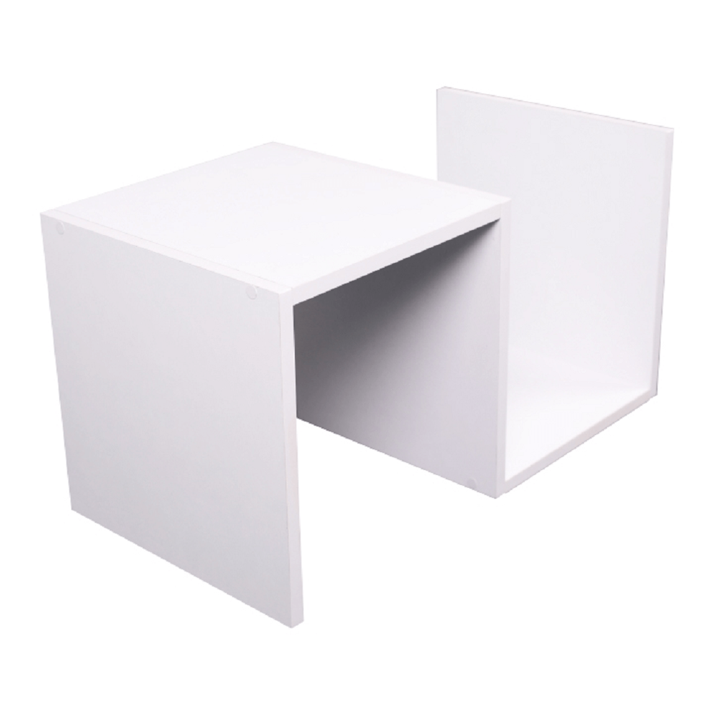 Príručný stolík, biela, VALMAR