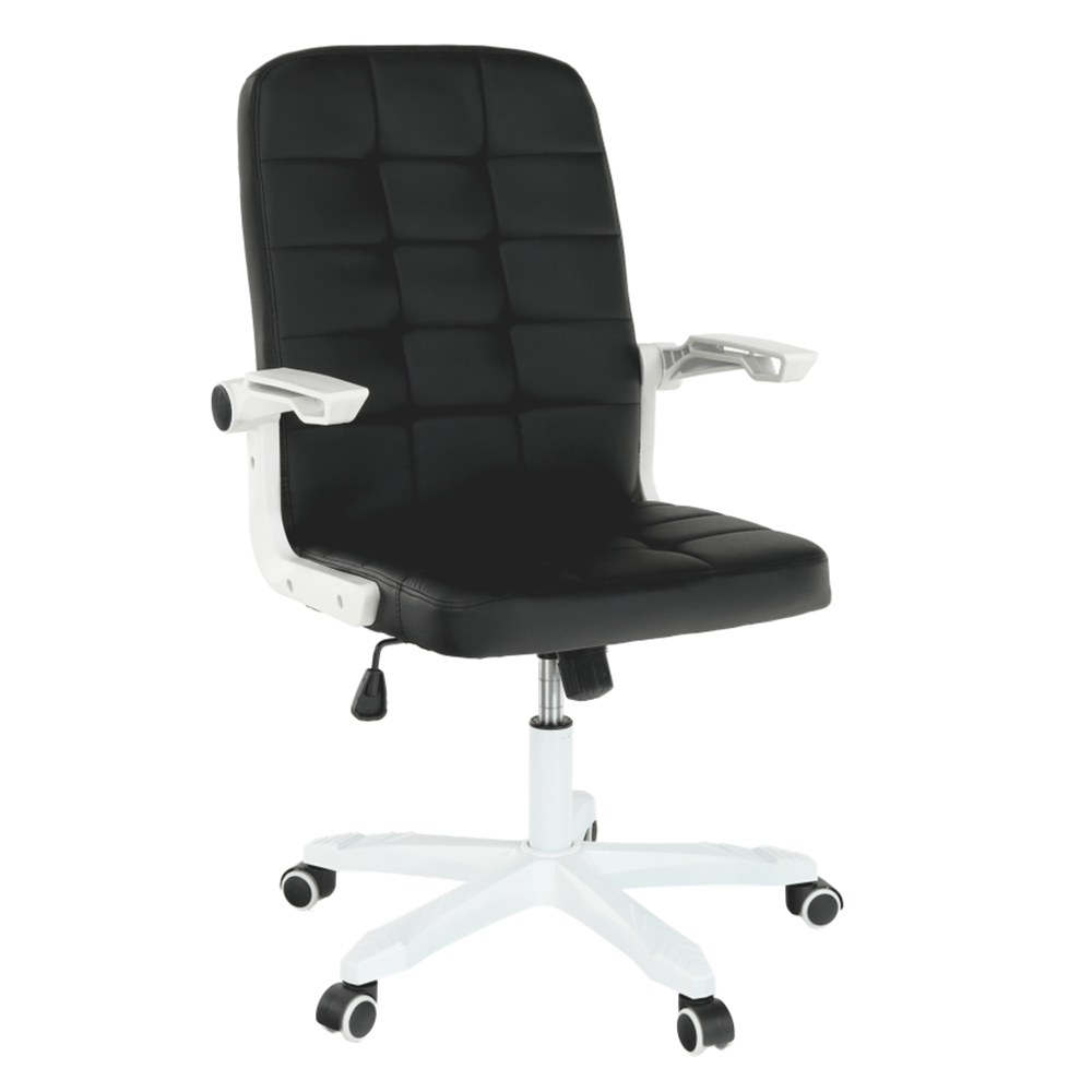 Kancelárske kreslo, biela/čierna, ZARGO