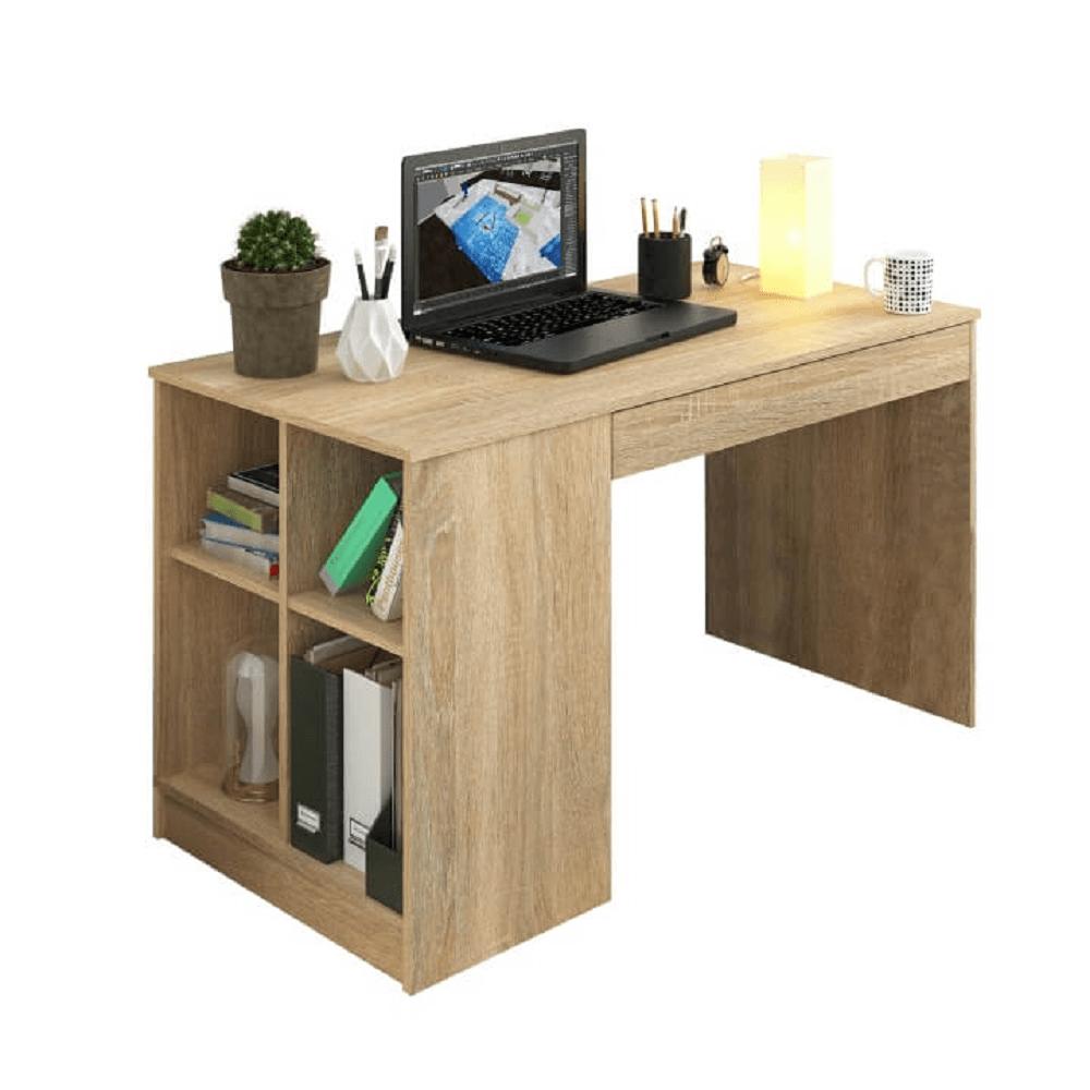 PC stůl, dub sonoma, VENDI, TEMPO KONDELA