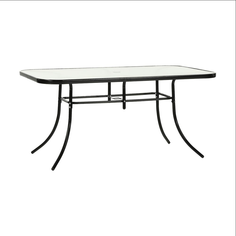 Jedálenský stôl, tvrdené sklo/oceľ, PASTER NEW, rozbalený tovar