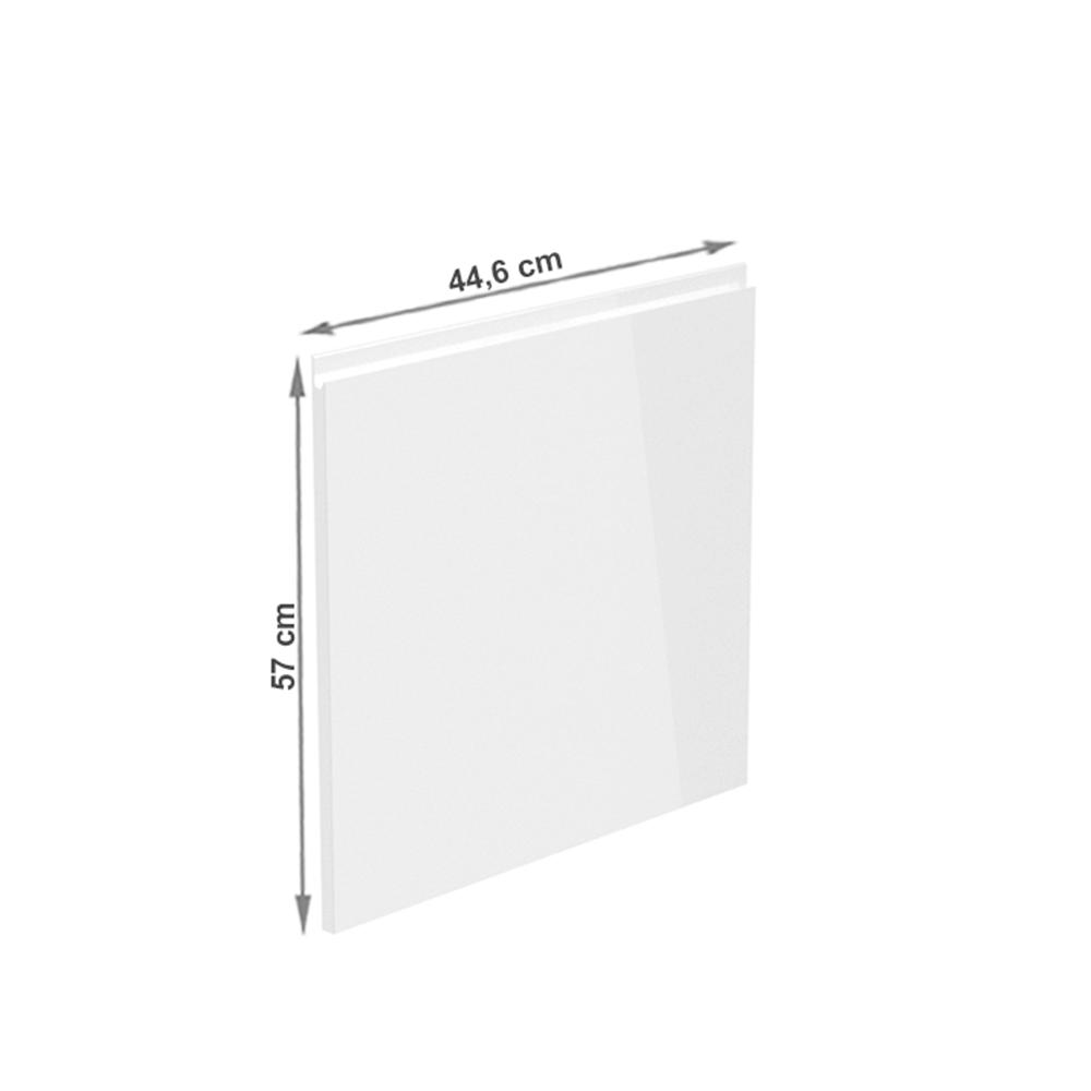 Dvířka na myčku, bílá extra vysoký lesk HG, 44, 6x57, AURORA