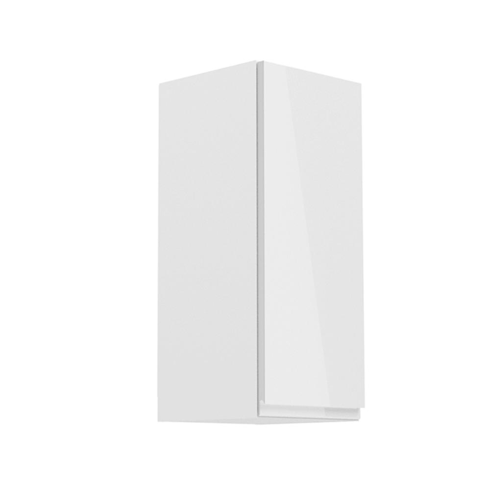 Horná skrinka, biela/biely extra vysoký lesk, pravá, AURORA G30