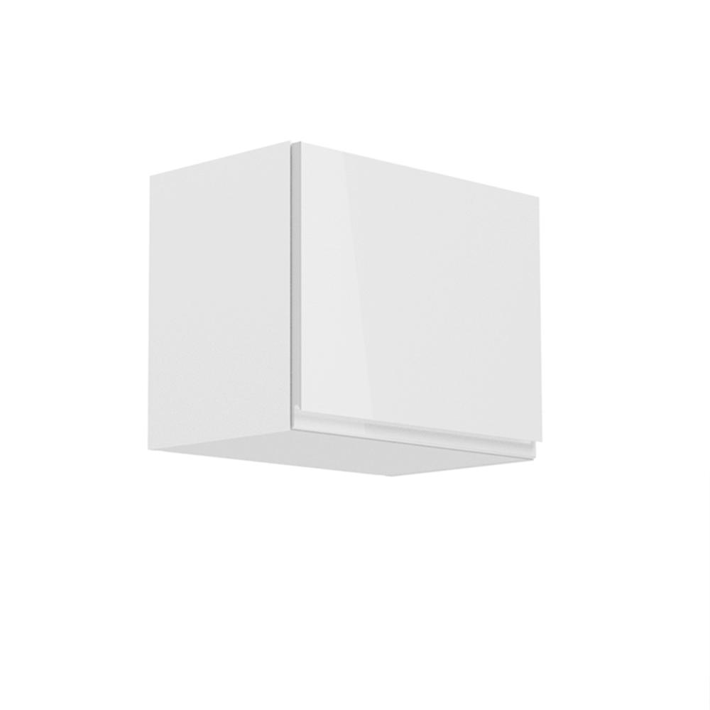 Horná skrinka, biela/biely extra vysoký lesk, AURORA G50K