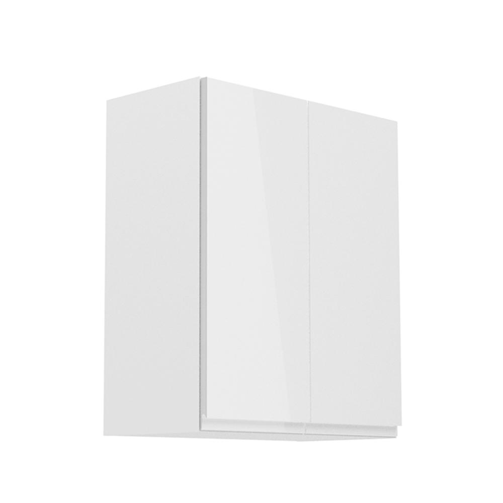 Horná skrinka, biela/biely extra vysoký lesk, AURORA G602F