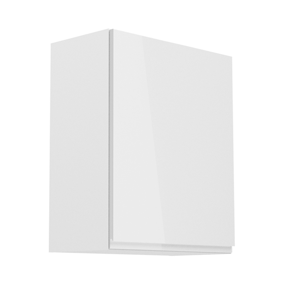 Horná skrinka, biela/biely extra vysoký lesk, pravá, AURORA G601F
