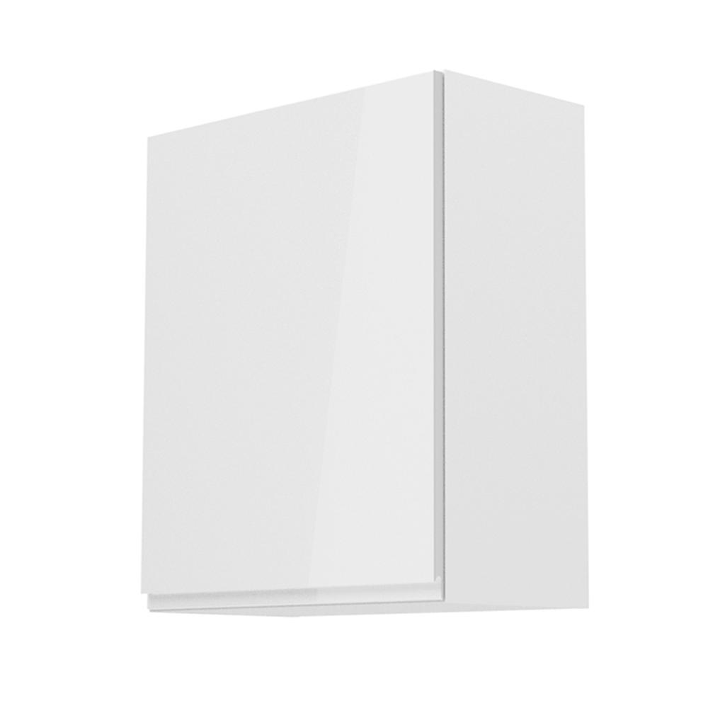 Felsőszekrény, fehér/fehér extra magasfényű, balos, AURORA G601F
