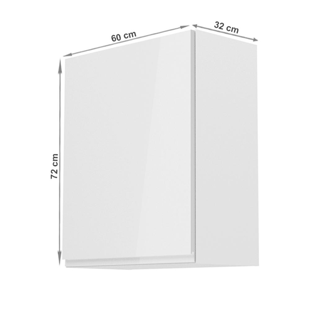 608/5000Horní skříňka, bílá / bílý extra vysoký lesk, levá, AURORA G601F