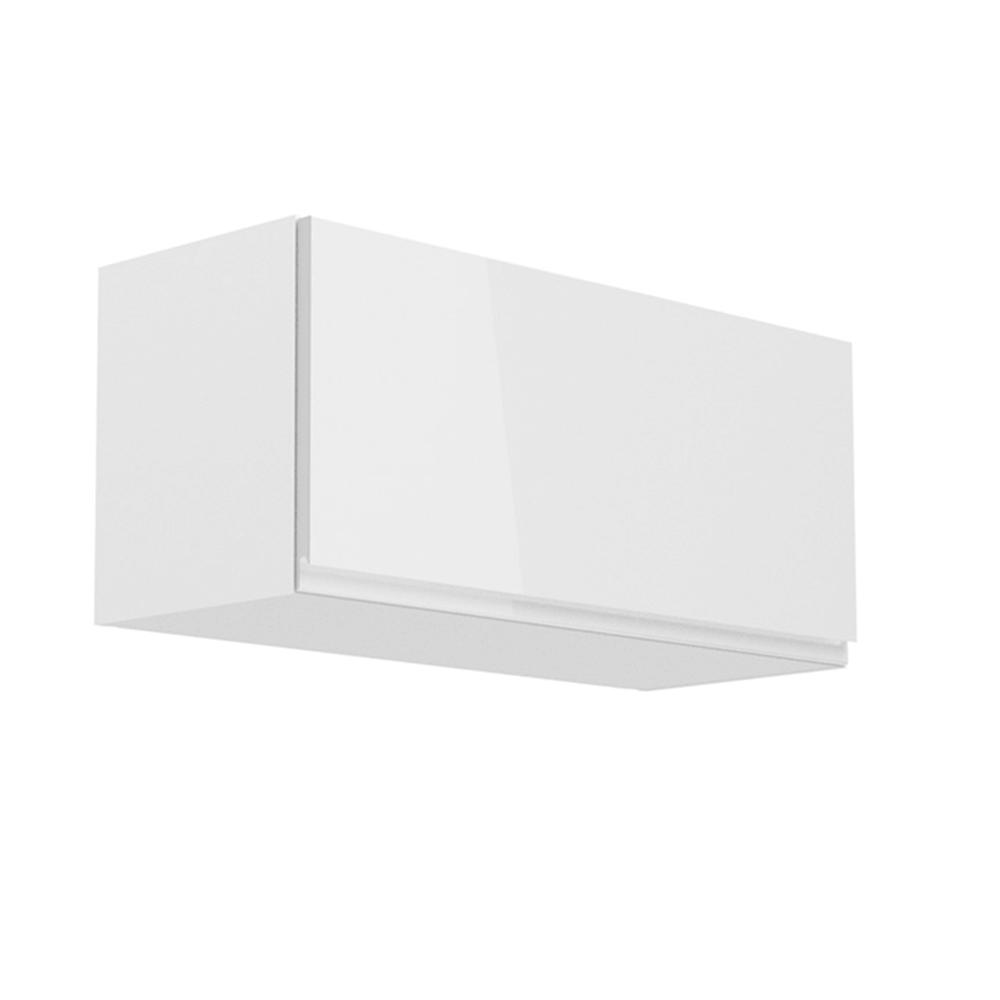 Horná skrinka, biela/biely extra vysoký lesk, AURORA G80K