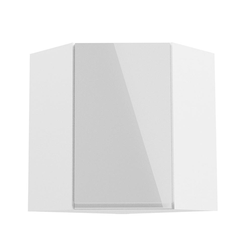Horná skrinka, biela/biely extra vysoký lesk, AURORA G60N