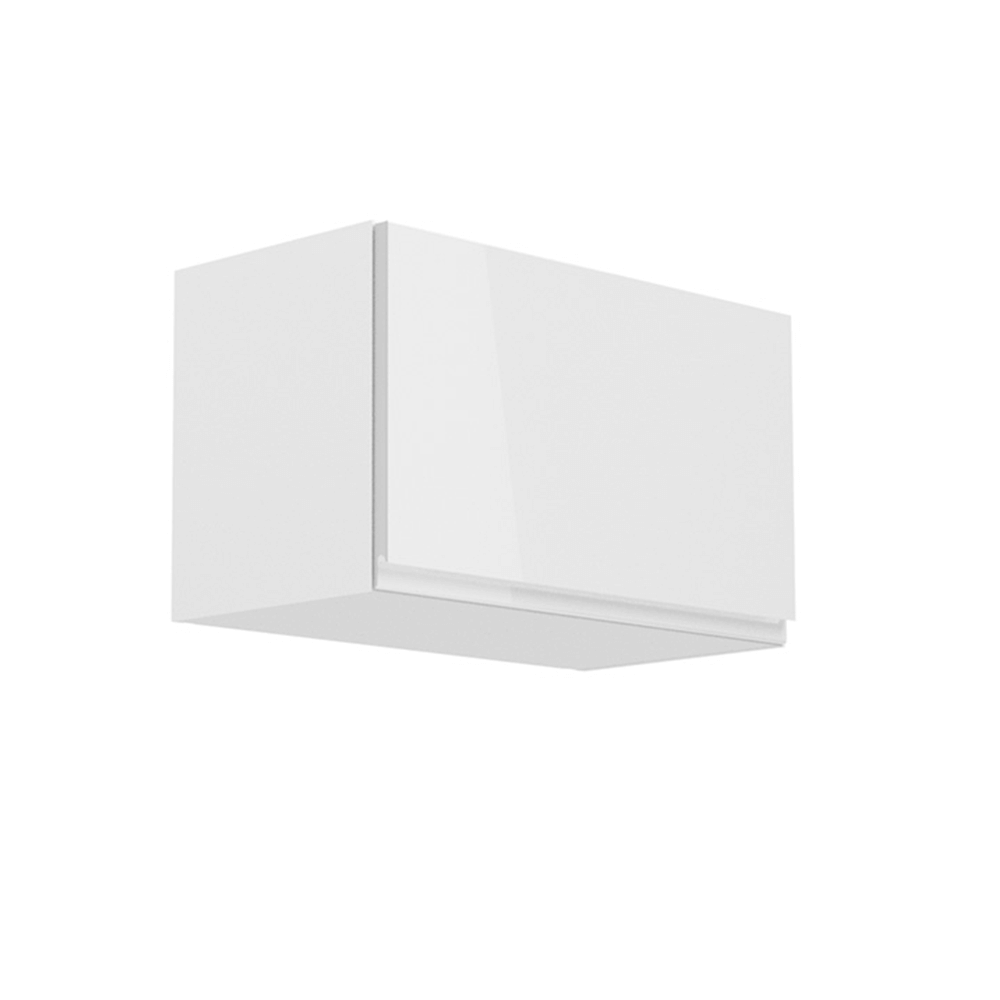 Horná skrinka, biela/biely extra vysoký lesk, AURORA G60KN