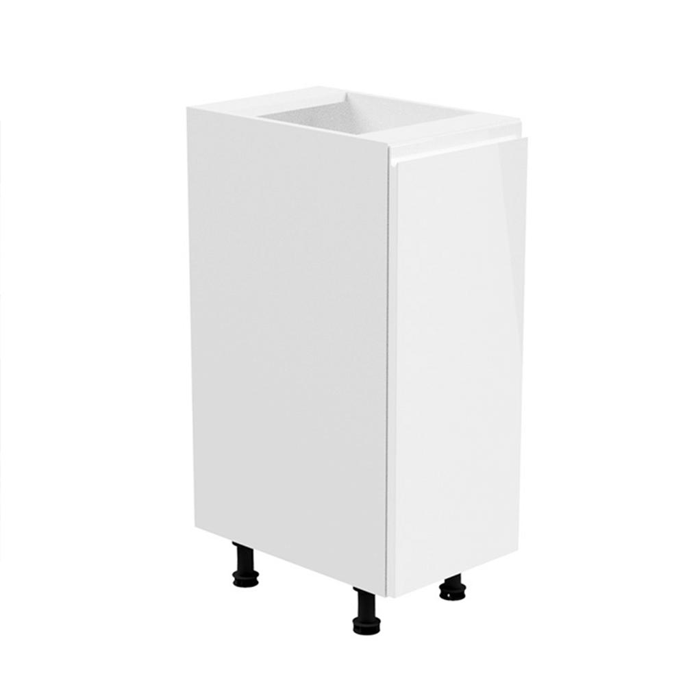 Spodná skrinka, biela/biela extra vysoký lesk, pravá, AURORA D30