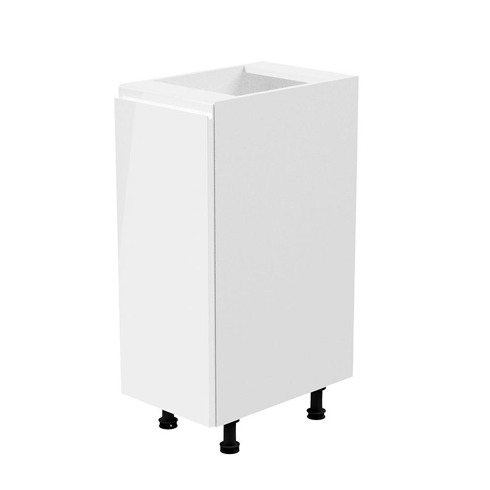 Spodná skrinka, biela/biela extra vysoký lesk, ľavá, AURORA D30