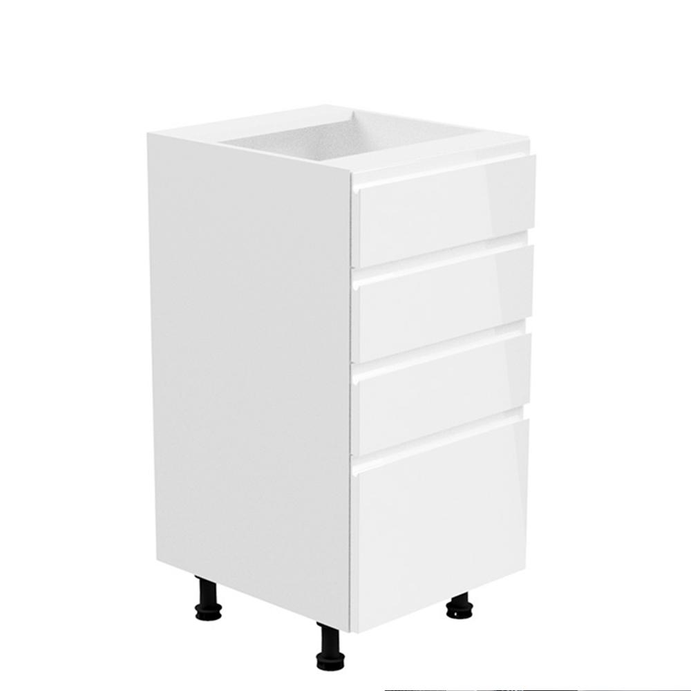 Spodná skrinka, biela/biela extra vysoký lesk, AURORA D40S4