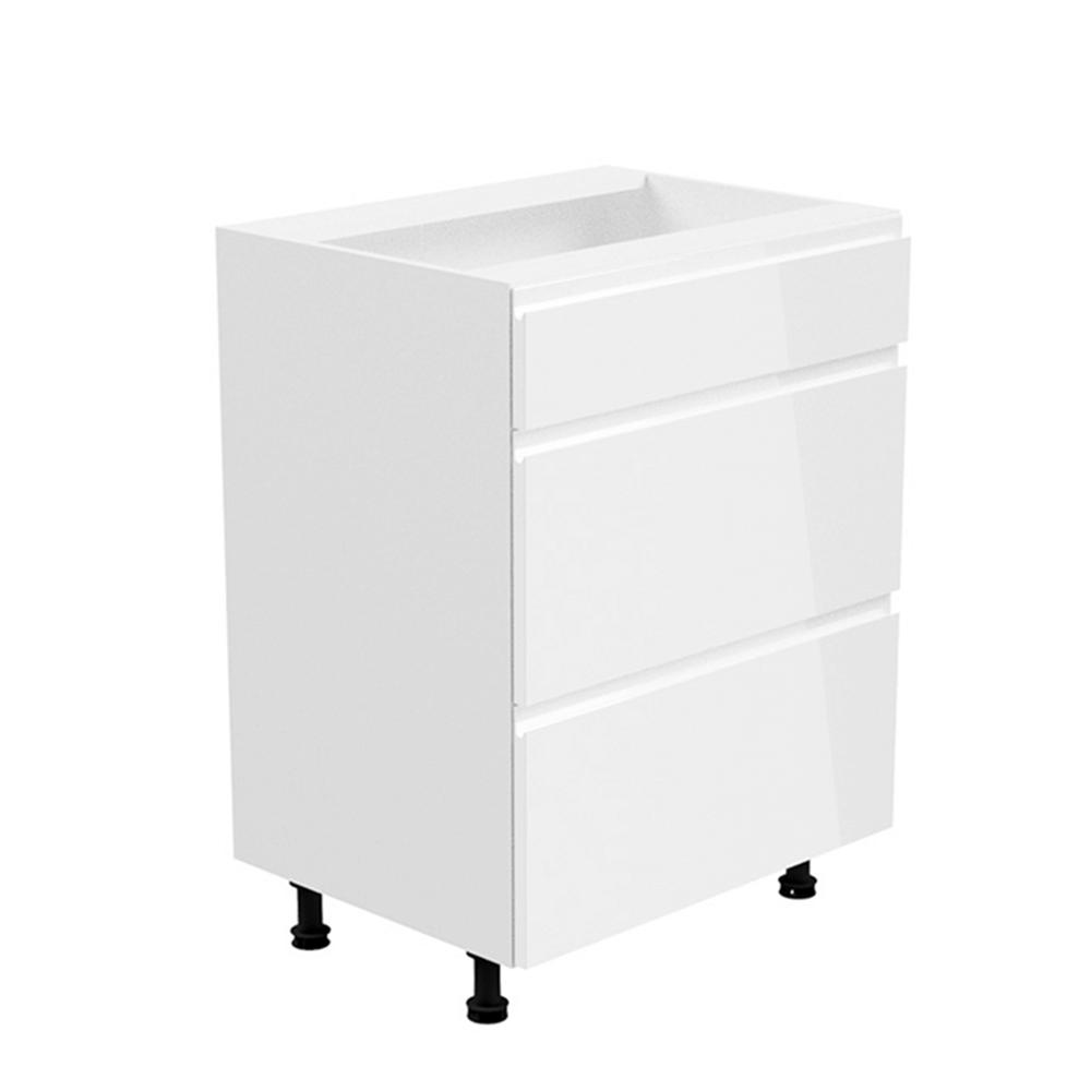 Spodná skrinka, biela/biela extra vysoký lesk, AURORA D60S3