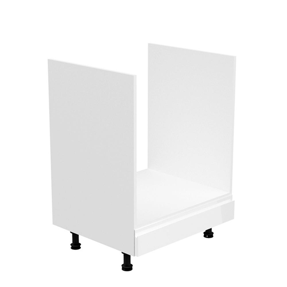 Dulap pentru aparate de uz casnic, alb/alb luciu extra ridicat, AURORA D60ZK
