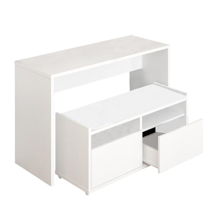 Viacúčelový stôl a lavica, biela, DELIMA