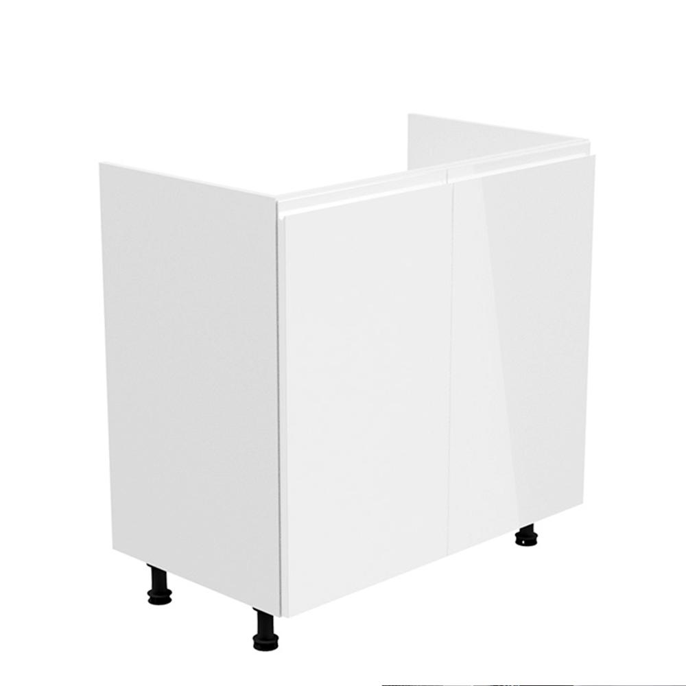 Drezová skrinka, biela/biela extra vysoký lesk, AURORA D80Z