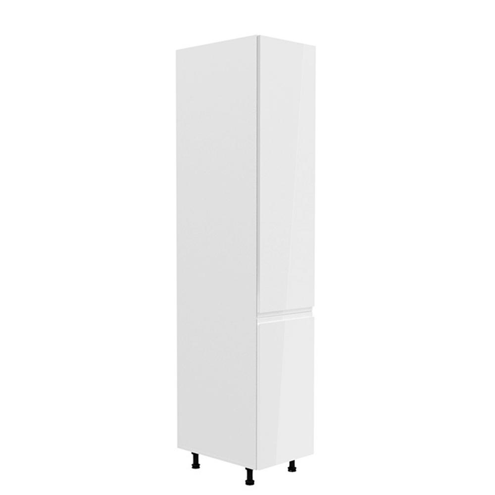 Potravinová skrinka, biela/biela extra vysoký lesk, pravá, AURORA D40SP