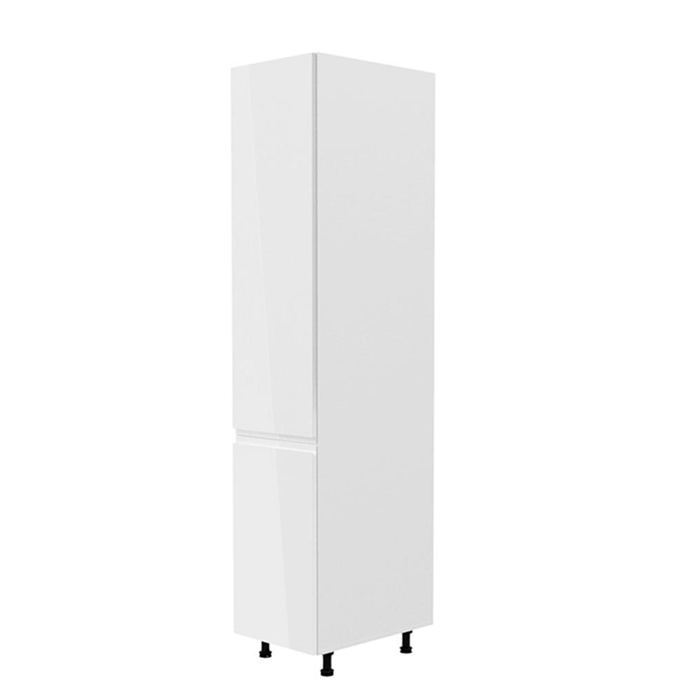 Potravinová skříňka, bílá / bílá extra vysoký lesk, levá, AURORA D40SP