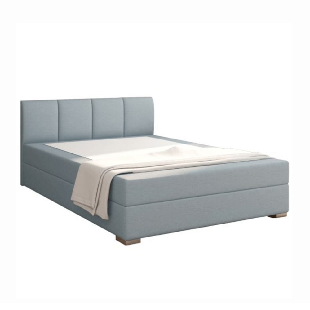 Boxpringová posteľ 140x200, mentolová, RIANA KOMFORT
