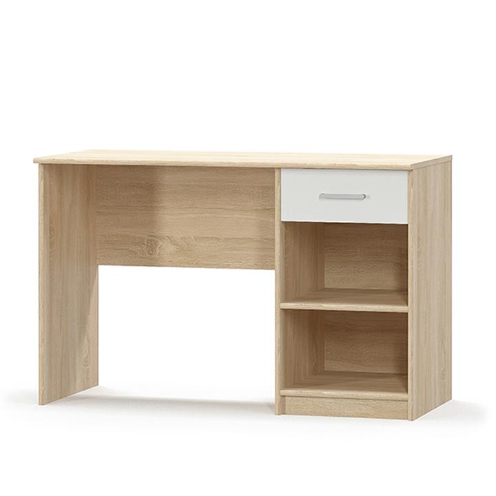 PC stôl 1S, biela/dub sonoma, TEYO