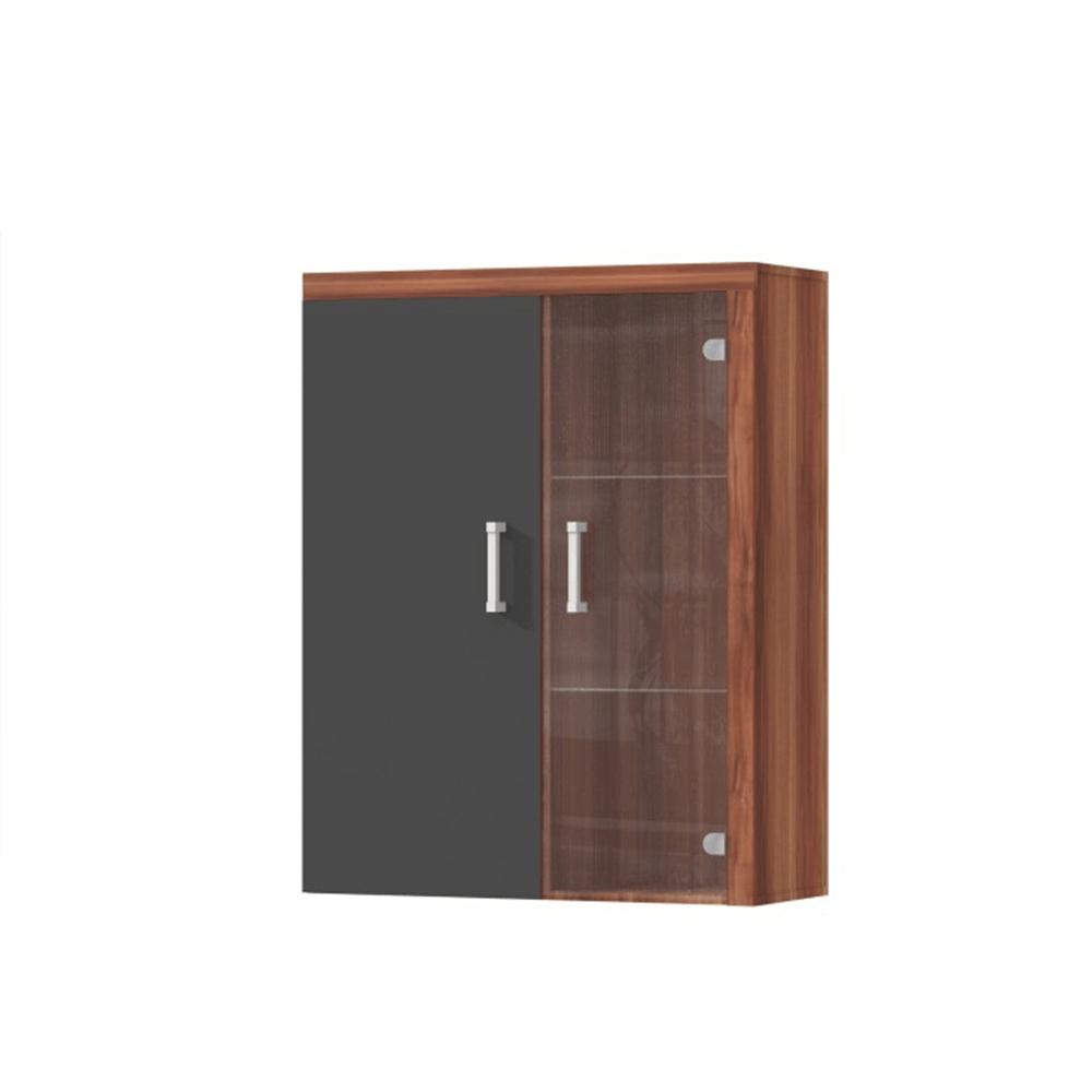 Závěsná vitrína, švestka / šedý grafit, CHERIS 4