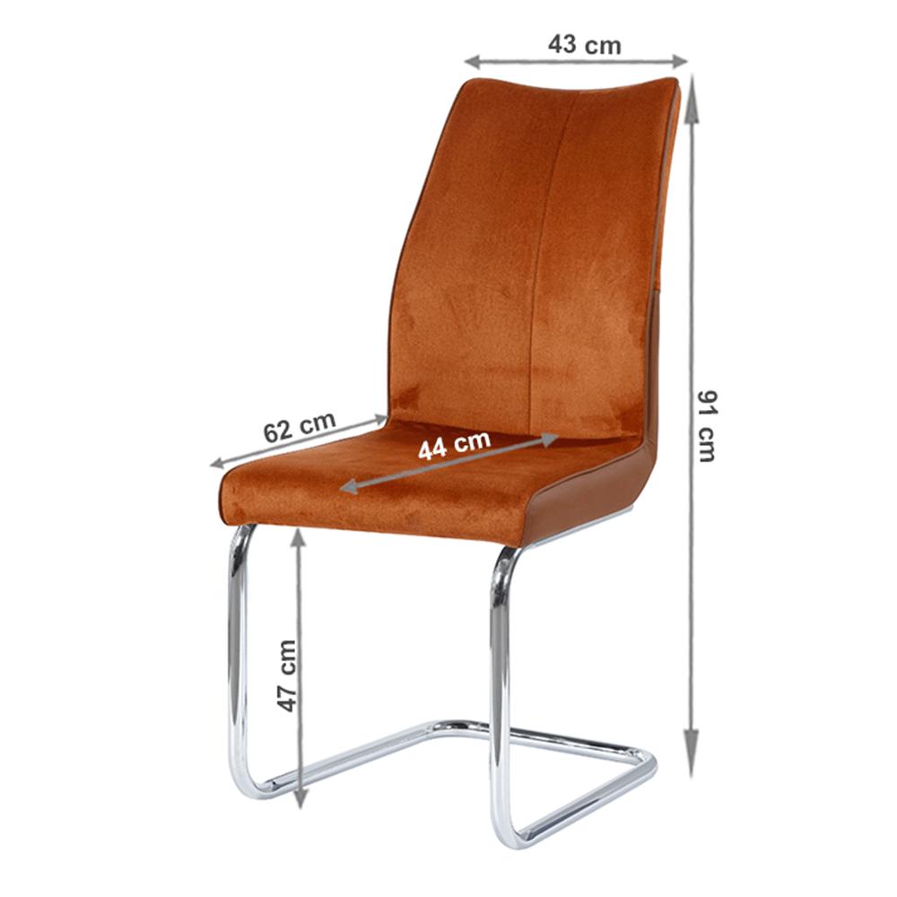 Jídelní židle, cihlová / cihlová, FARULA