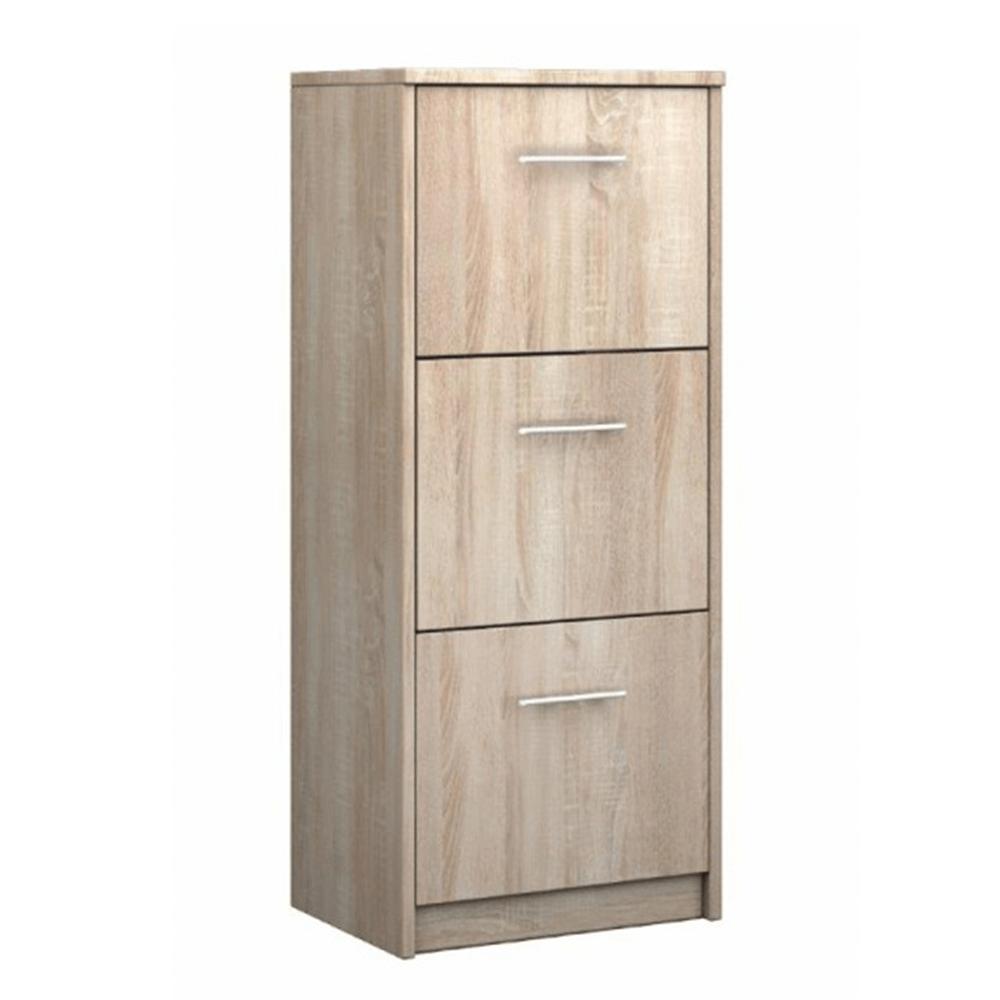 Botník, 3-radový, dub sonoma, NARIO typ 5
