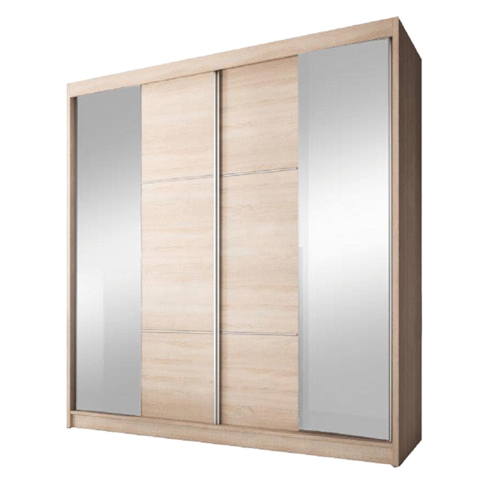 Skriňa s posúvacími dverami, dub sonoma, 203x218, MULTI 36