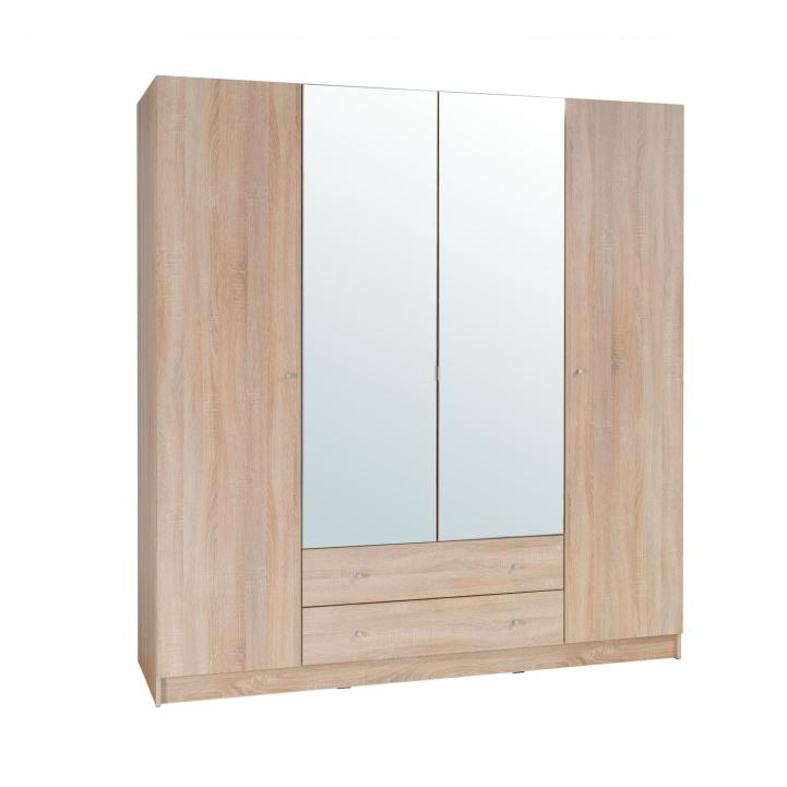4-dveřová skříň, dub sonoma, MEXIM