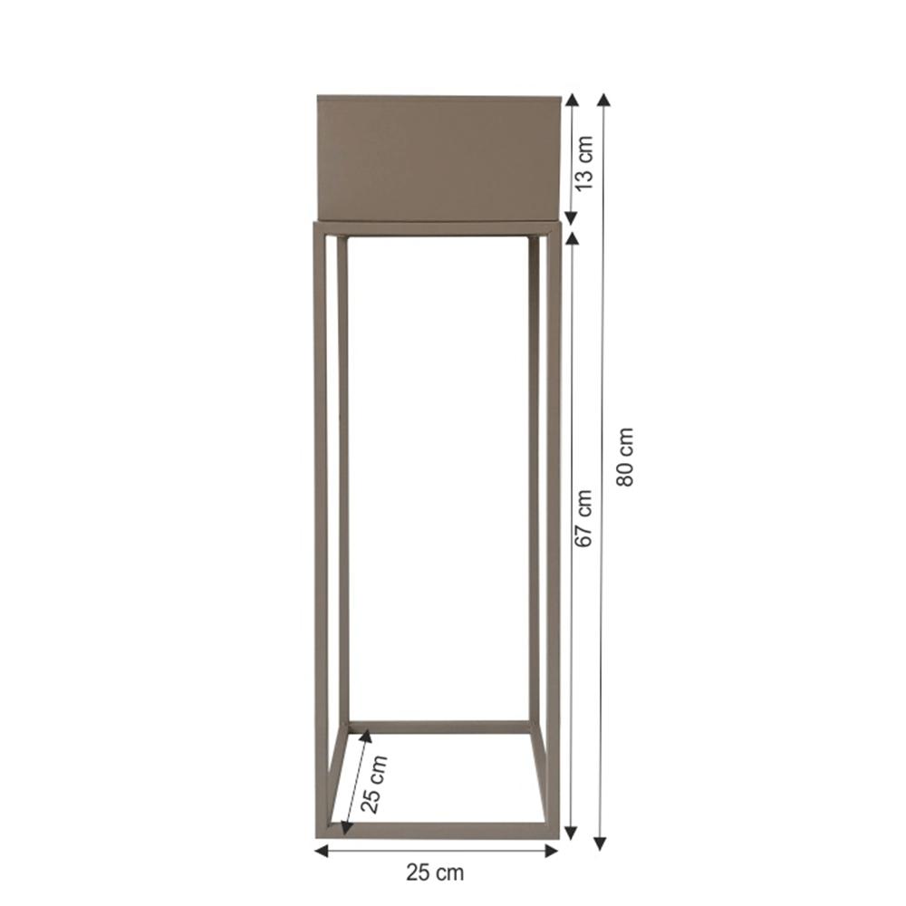 Multifunkční kovový květináč, světlehnědá Taupe, INDIZE TYP 1