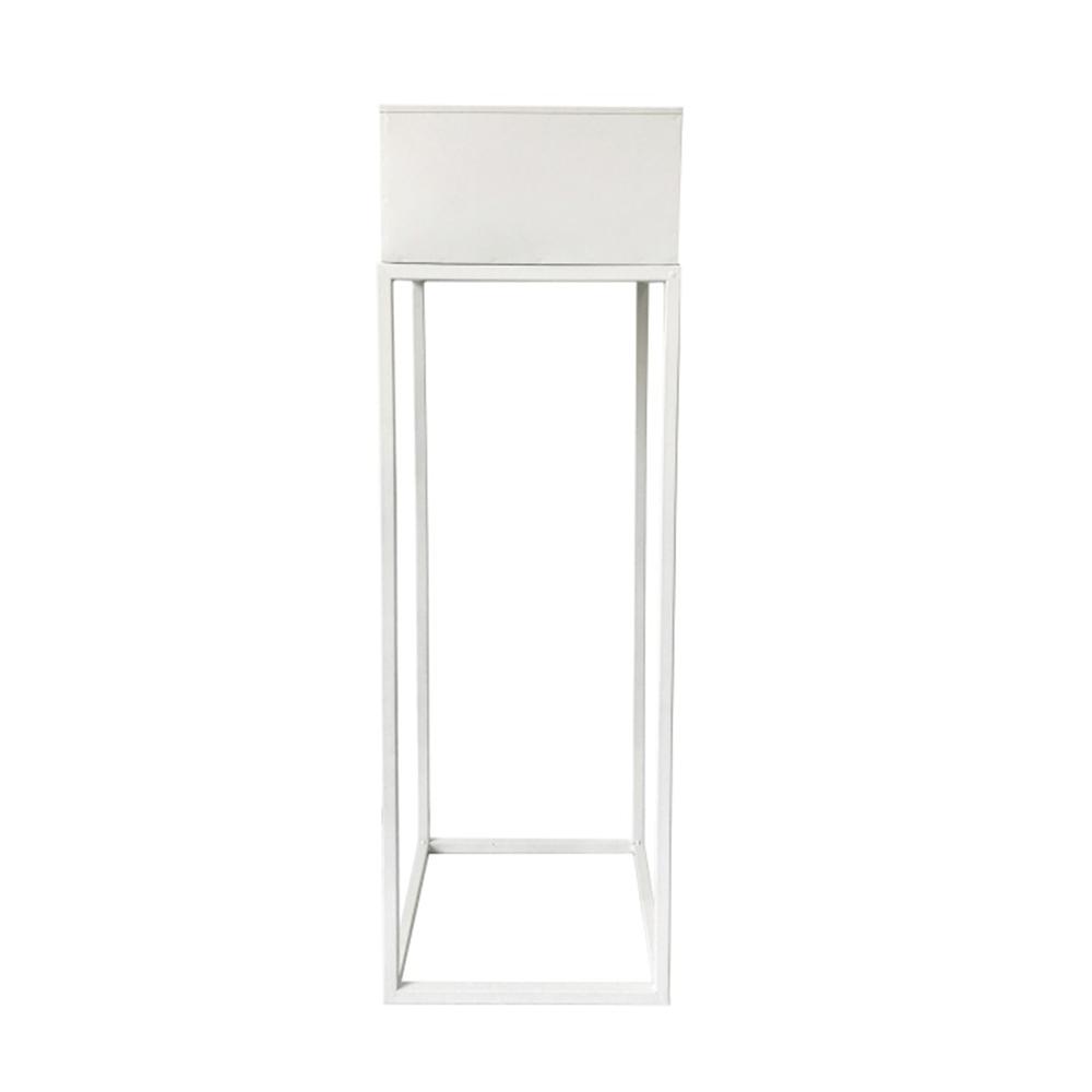 Multifunkční kovový květináč, bílá, INDIZE TYP 1