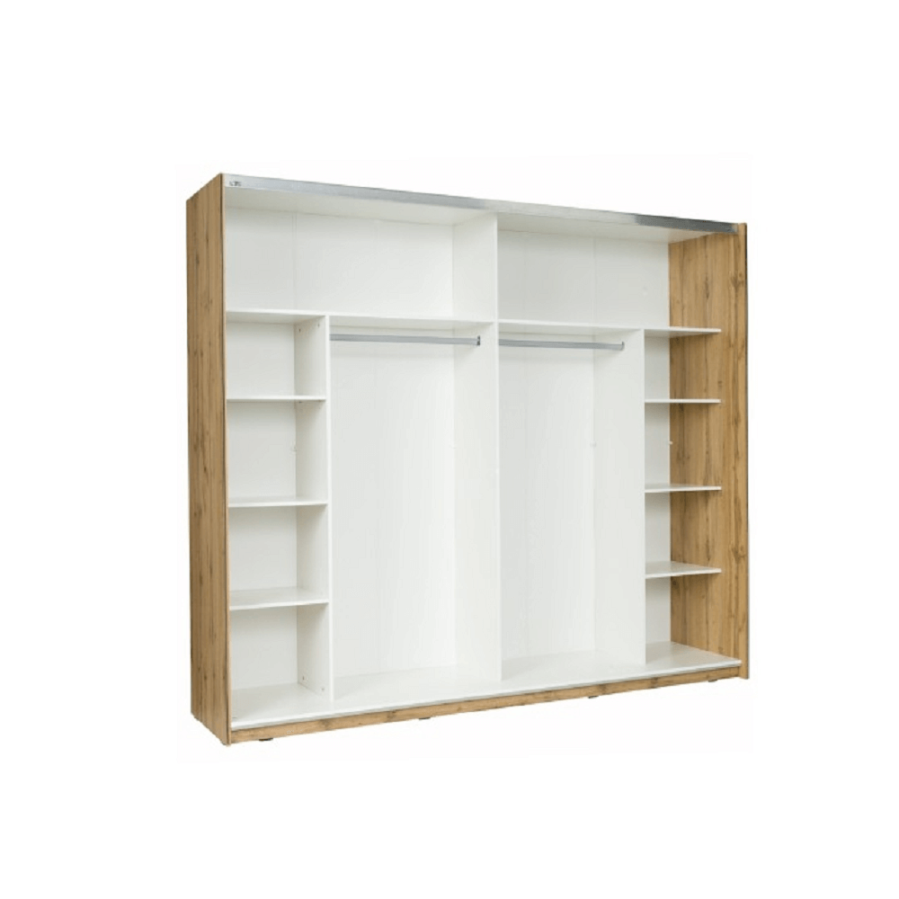 2-dveřová skříň, dub wotan/bílá, VODENA 200