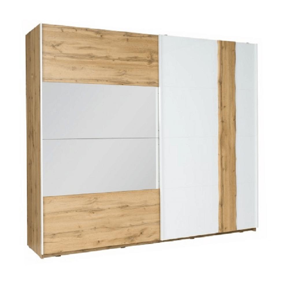 Dulap cu 2 uşi, stejar wotan / alb, VODENA 201