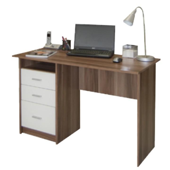 TEMPO KONDELA PC stôl, slivka biela, SAMSON - Tempo nábytek