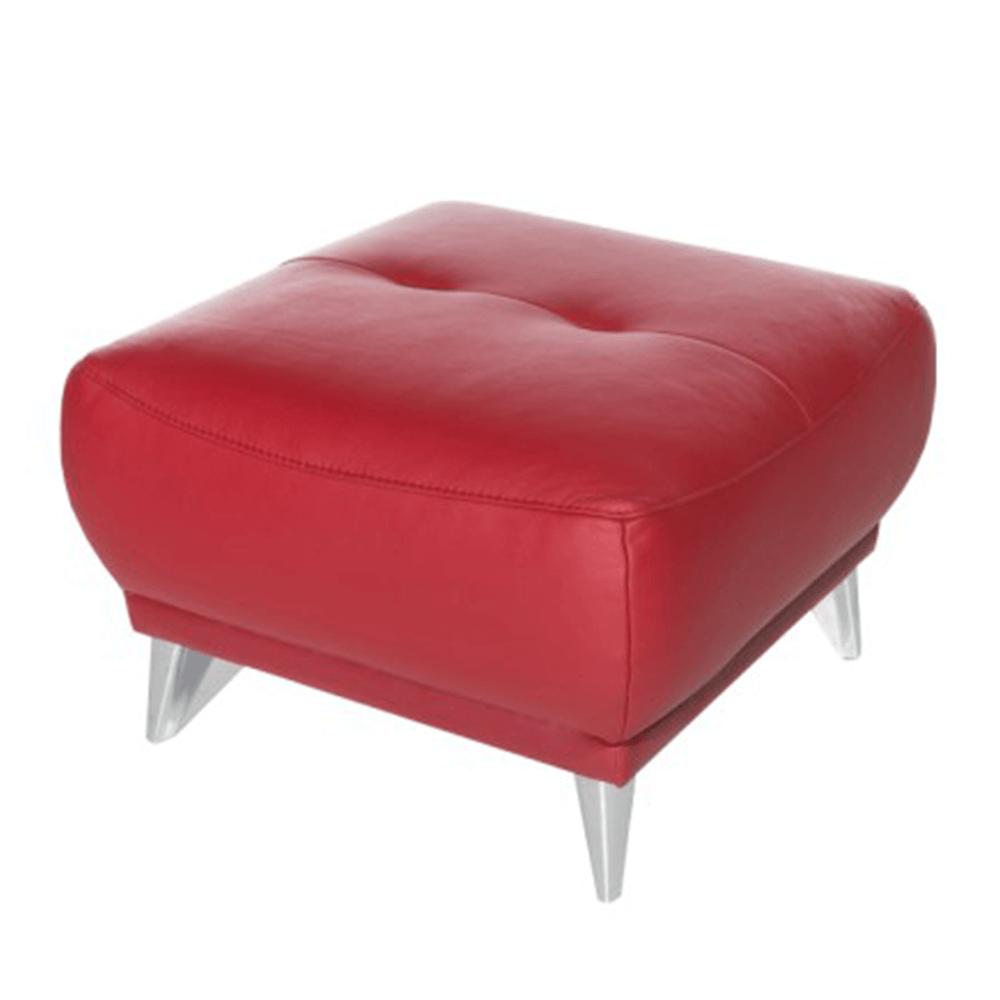 Celokožený taburet, červená, Melesio
