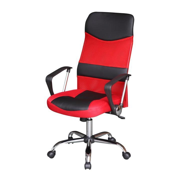Kancelárske kreslo, červená/čierna, TC3-973M