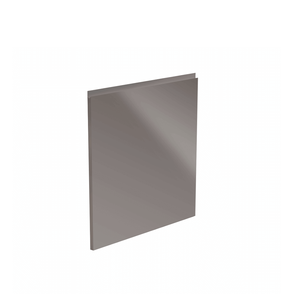 Dvierka na umývačku riadu, biela/sivá extra vysoký lesk HG, 44, 6x57, AURORA