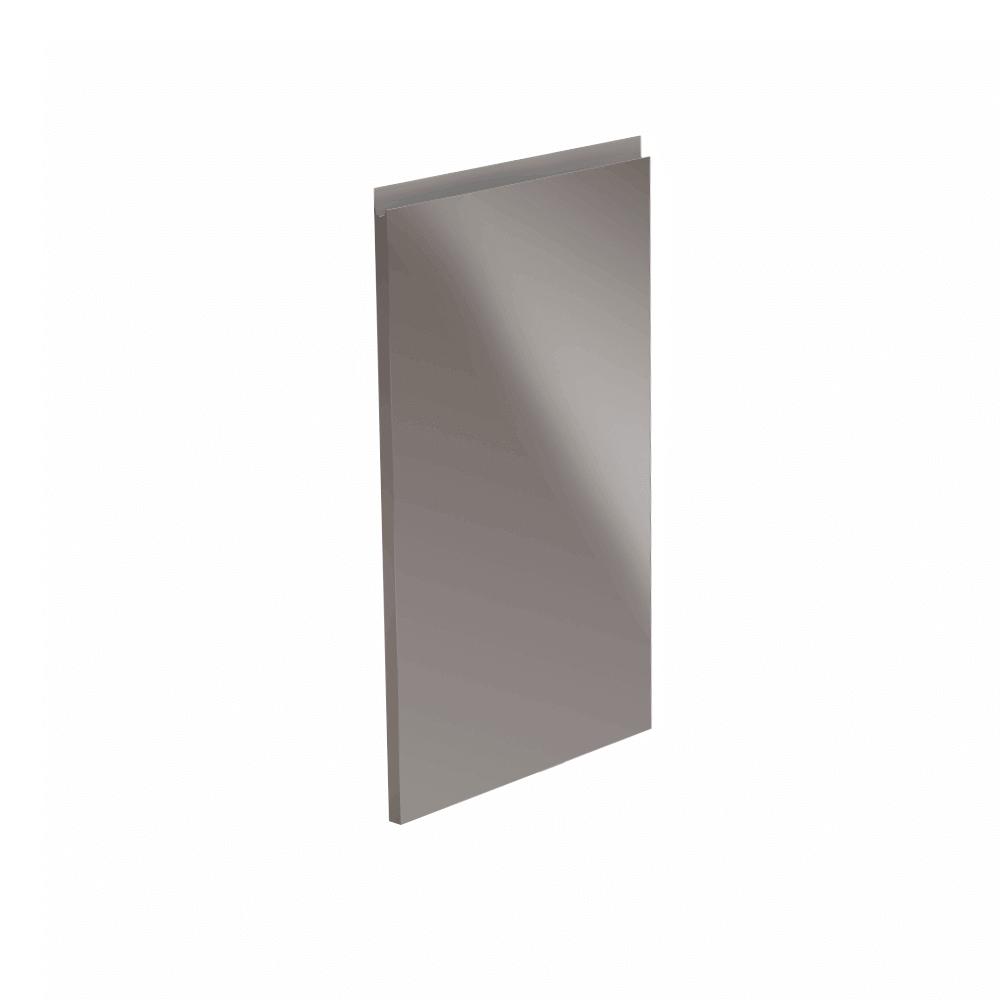 Dvierka na umývačku riadu, biela/sivá extra vysoký lesk HG, 44, 6x71, 3, AURORA